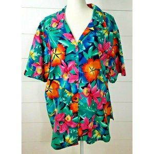VINTAGE Hilo Hatties Size 2XL Hawaiian Shirt Multi